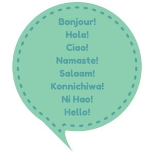 bonjourholaciaonamastesalaamkonnichiwani-haohello